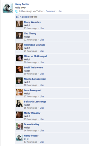 Twilight and Harry Potter Facebook Conversations!