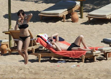 Andres Iniesta with Anna Ortiz vacation at Sardinia