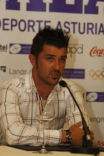 David villa at Asturian Sports Press Conference (16 June, 2011)