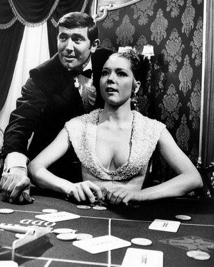 "Diana Rigg And George Lazenby In The Film ""On Her Majesty's Secret Service"