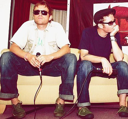 Jamie Hewlett and Damon Albarn