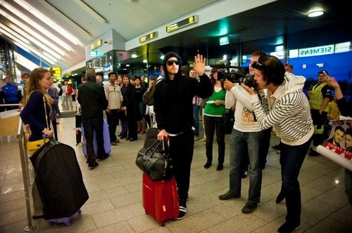 Jared arriving in Tallinn