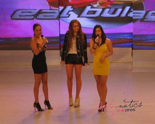 Miley - At Eat Bulaga in Manila, Philippines (June 16th, 2011)