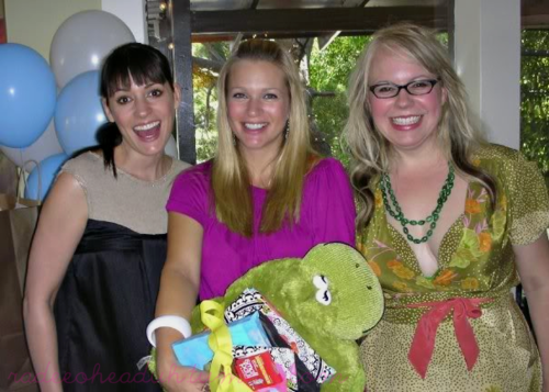 Paget, AJ and Kirsten, AJ's baby shower