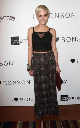 "Ashlee Simpson at the I ""Heart"" Ronson event at JC Penney (June 21)."