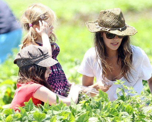 Rachel Bilson taking half sisters Hattie and Rosemary to the farm at Moorpark, CA (June 26).