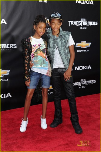 Willow and Jaden Smith step out for the premiere of Transformers: Dark Of The Moon