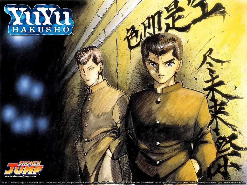 Yusuke And Kuwabara Yu Yu Hakusho Wallpaper 23212506 Fanpop