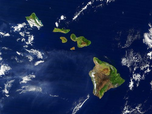 Satellite Image of the Hawaiian Islands