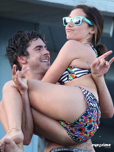 Zac Efron: Shirtless Piggyback Ride for Ashley Tisdale (HQ)