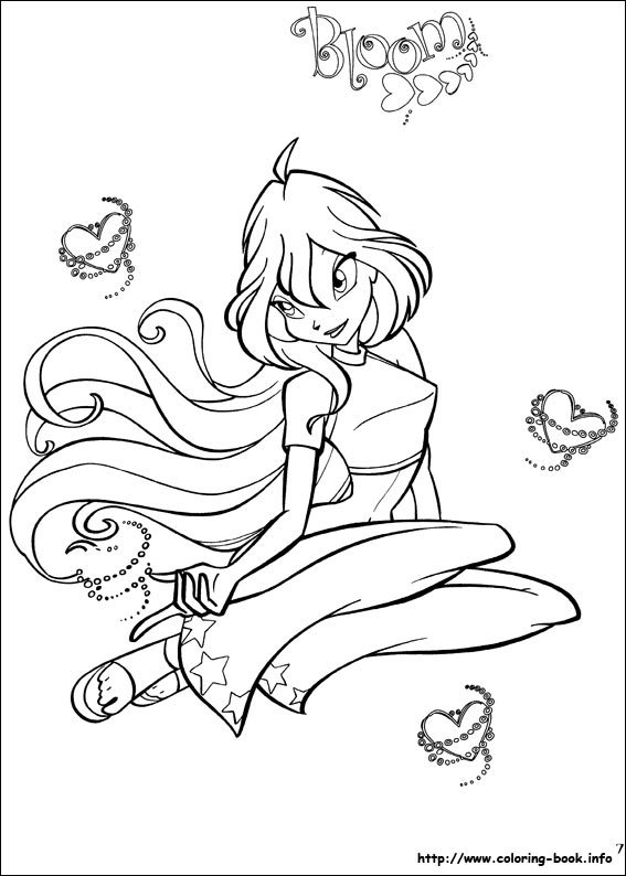 Colouring Pages Winx Club Fan Art 23364746 Fanpop