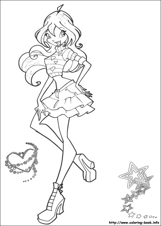 Colouring Pages The Winx Club Fan Art 23364882 Fanpop