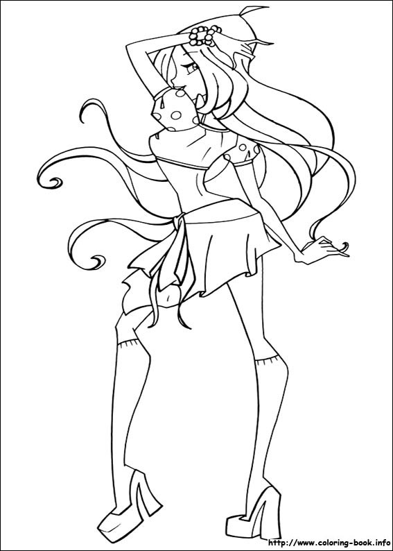 Colouring Pages Winx Club Fan Art 23364990 Fanpop
