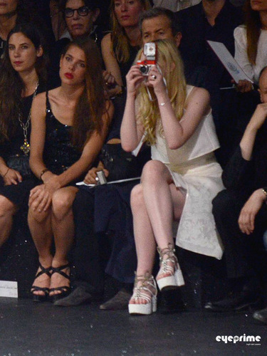 Elle Fanning: Chanel Fashion Show in Paris, July 5