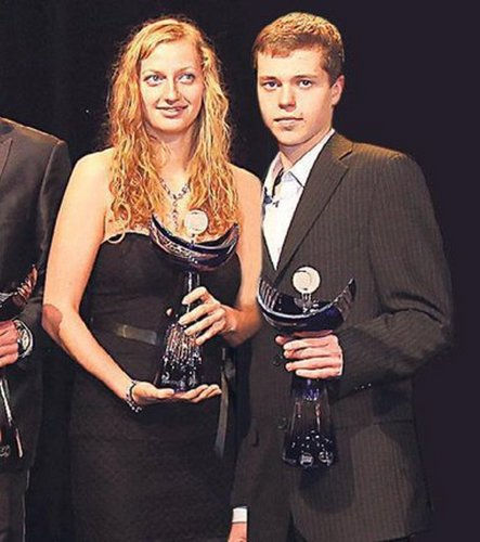 Petra Kvitova (21) and her younger boyfriend Adam Pavlasek (16)