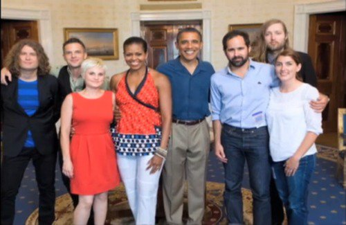 The Killers and the US President + the wives