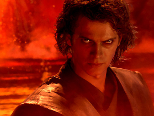 Anakin on Mustafar