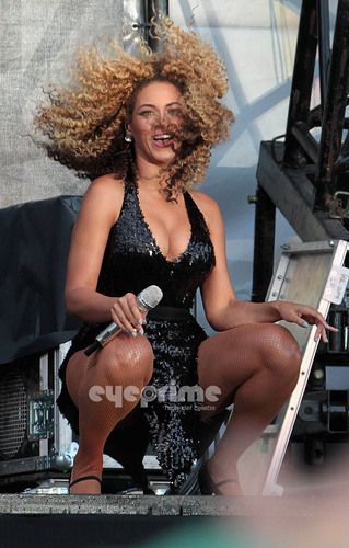 Beyoncé performs during T In The Park in Scotland, July 9
