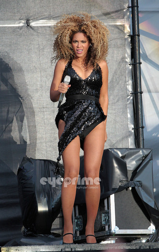 Beyonce performs during T In The Park in Scotland, July 9