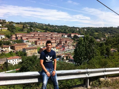 David Villa in his hometown (Tuilla, Asturias)