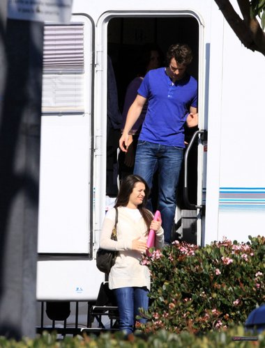 "Leaving the trailer at the ""Glee"" set - February 3, 2010"