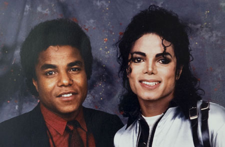Michael with his brother