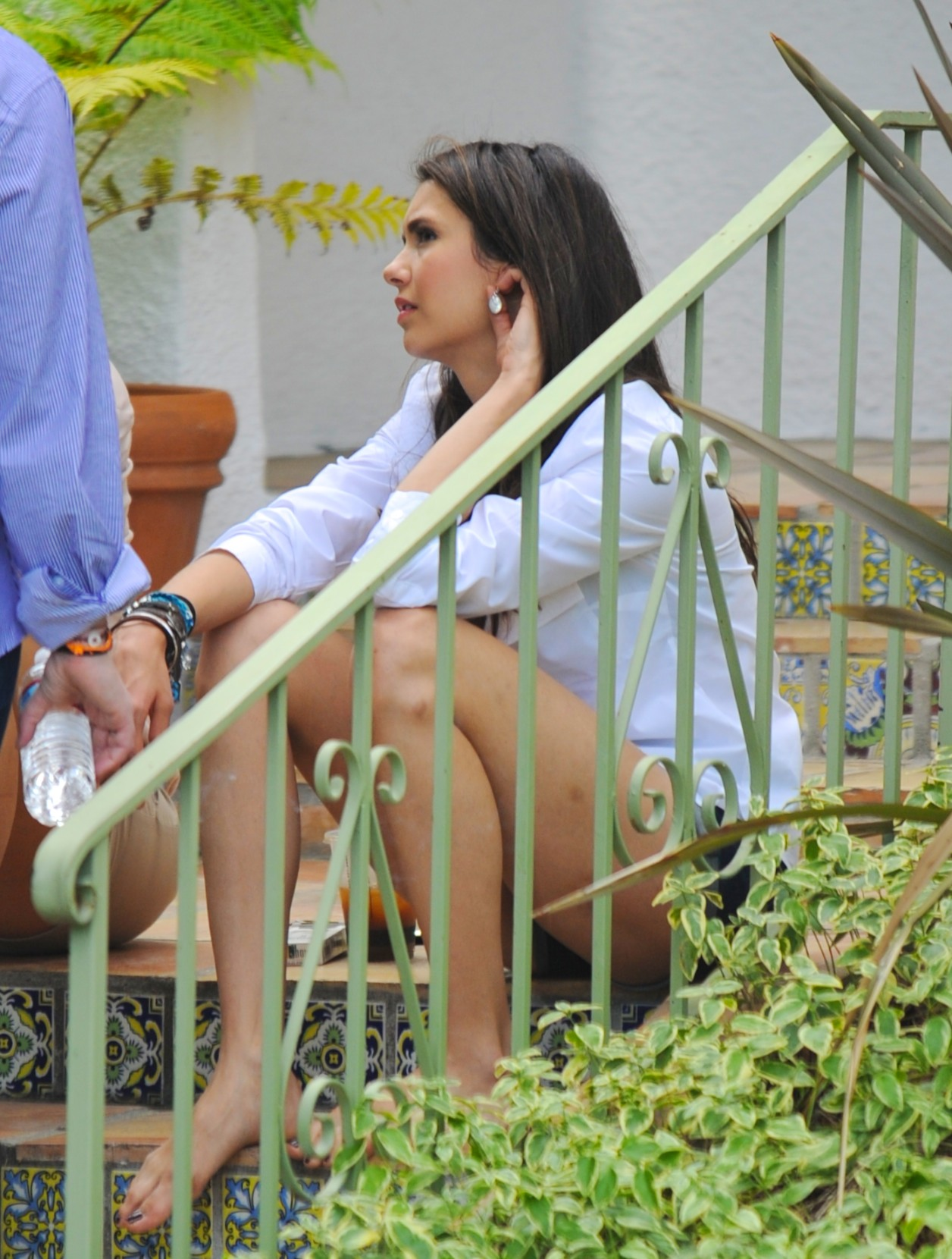 Nina - On the set of a photoshoot in West Hollywood - July 07, 2011