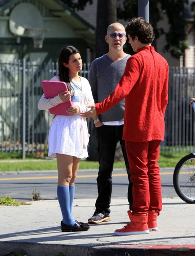 "On the ""Glee"" set - April 13, 2010"