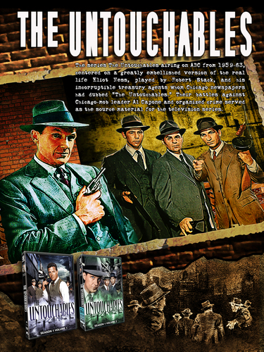The Untouchables TV Classic with Robert Stack