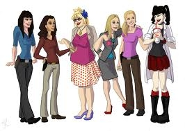 Ziva and Abby plus other Crime Show Ladies Cartoon