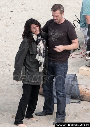 hugh and lisa on the beach