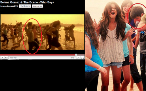 justin bieber at selena gomez who says video????