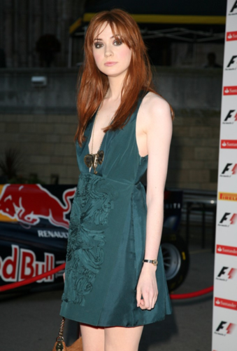 Karen Gillan @ F1 party London July 2011