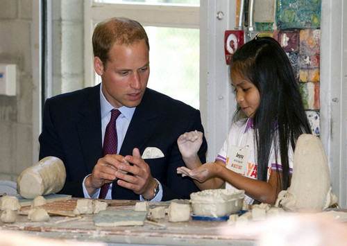 Prince William at Inner City Arts Youth Project