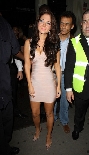 Tulisa Contostavlos celebrates her 23rd birthday at Movida nightclub in London.