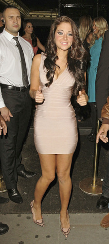 Tulisa of N-Dubz Birthday Party at Movida in London