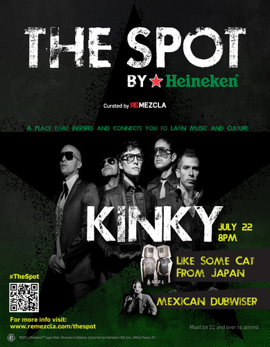 Kinky Live at The Spot in NY