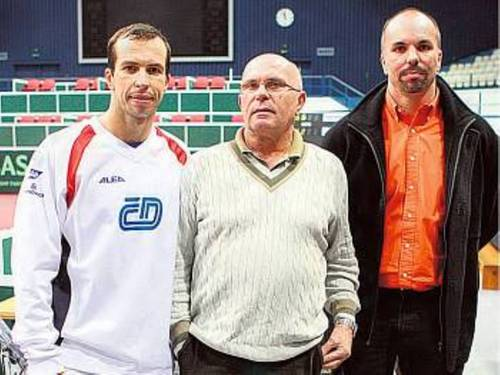 Radek Stepanek and his father Vlastimil and his brother Martin