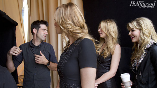 Yvonne Strahovski Behind The Scenes of the Hollywood Reporter 'Women Of Comic Con' Photoshoot