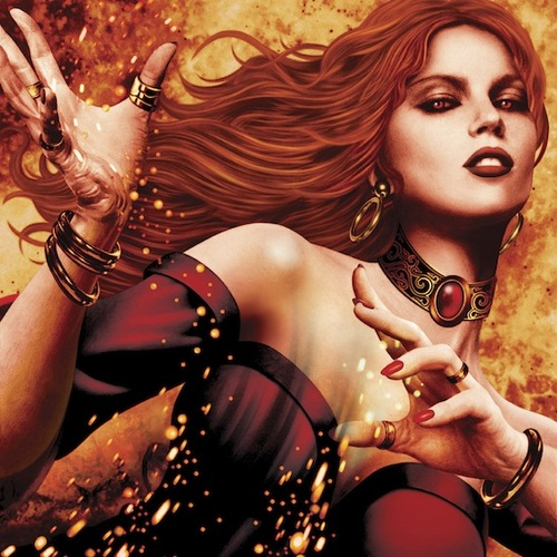 A Song Of Ice And feuer - 2012 Calendar - July - Melisandre