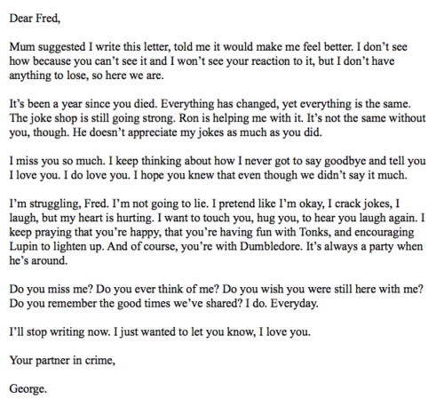 A letter to Fred