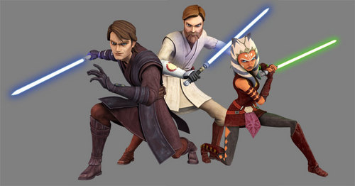 Big pic of Obi-wan,Ahsoka,and anakins new look