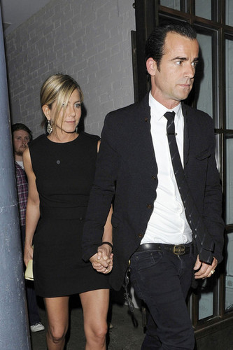 Jennifer Anniston and Justin Theroux spotted leaving Shoreditch House in London