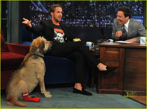 Ryan 小鹅, gosling, 高斯林 & George Visit Jimmy Fallon