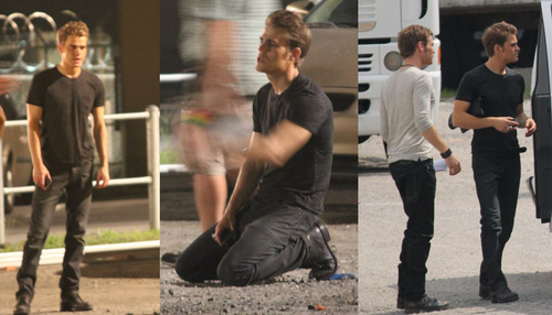 Season 3 - Paul Wesley on set