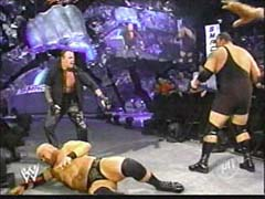 Undertaker tries to Save Stephanie gets attacked door the Big toon & A-Train - (2003)