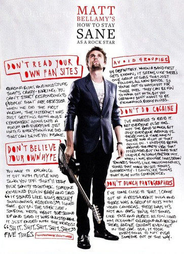 Muse in Q Magazine, August 2011 Edition Scans