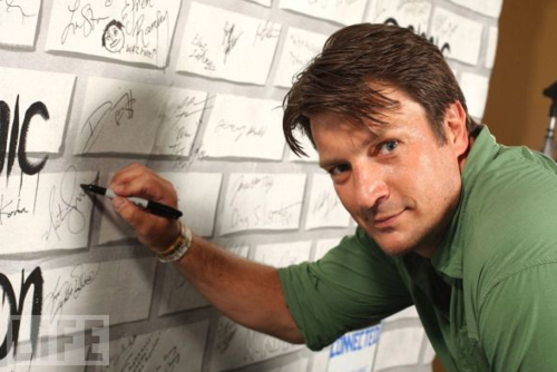 Nathan Fillion at WireImage Portrait Gallery At Comic-Con