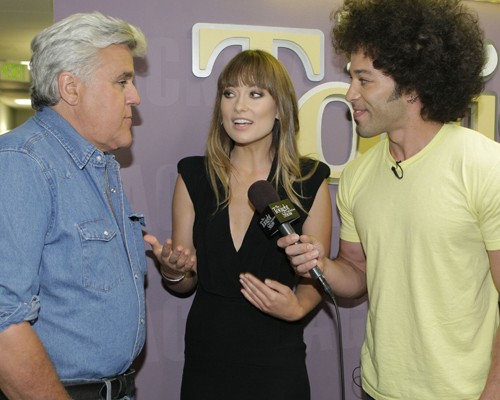 Olivia Wilde Backstage @ the Tonight Show With Jay Leno