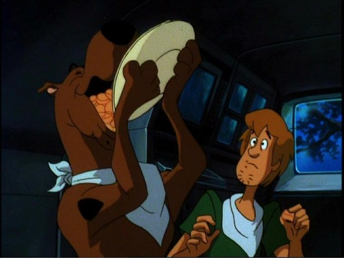 Scooby Doo Eating Biscuits
